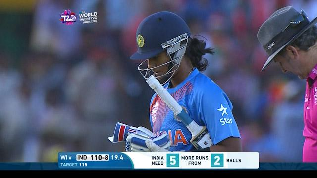 Shikha Pandey Wicket Fall IND V WI Video ICC Womens WT20 2016