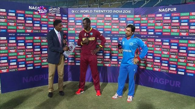 Match Presentation for AFG V WI Match 30 ICC WT20 2016