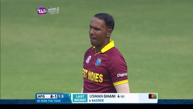 Samuel Badree Match Hero for West Indies v Afganistan ICC WT20 2016