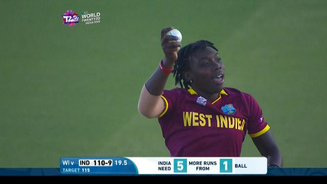 Final moments India v West Indies