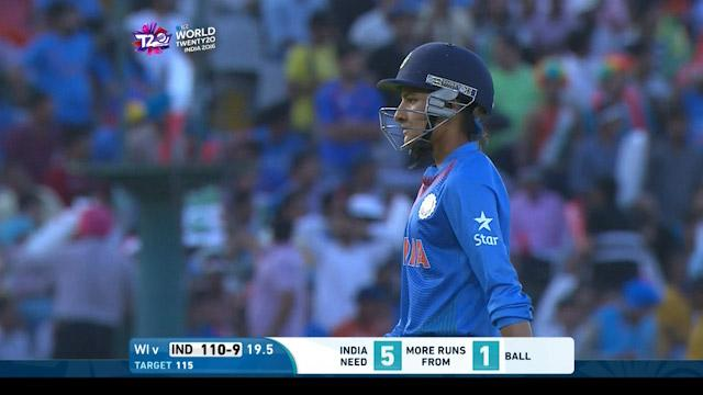 India wicket Losses v West Indies Video ICC Womens WT20 2016
