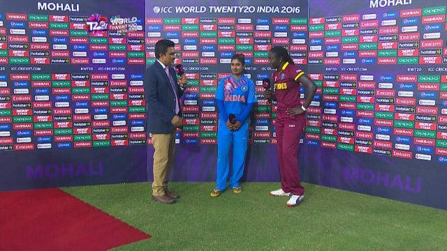 Match Presentation for WI V IND Match 18 ICC Womens WT20 2016