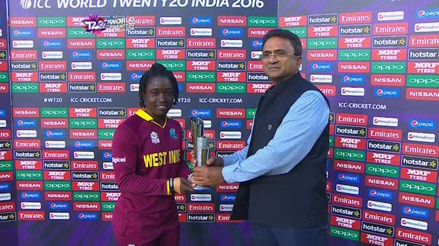 Player of the Match – Deandra Dottin  – WI v IND