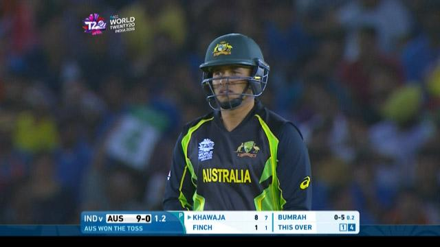 Khawaja takes Bumrah for 4 x 4's