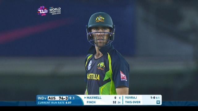 Glenn Maxwell Innings for Australia V India Video ICC WT20 2016