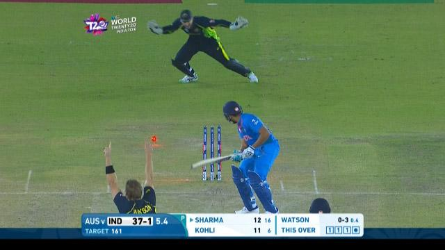 India wicket Losses v Australia Video ICC WT20 2016