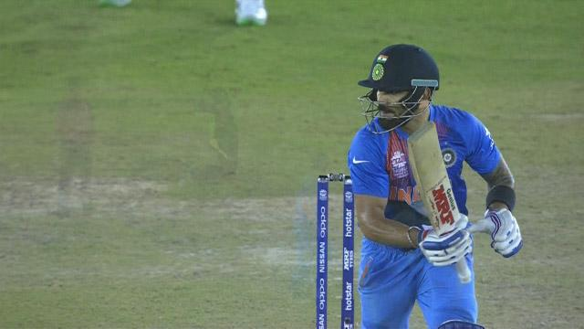 Virat scores 16 off Hazelwood's over!
