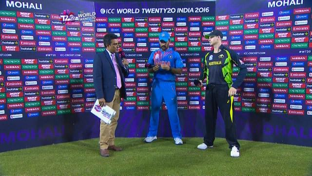 Match Presentation for IND V AUS Match 31 ICC WT20 2016