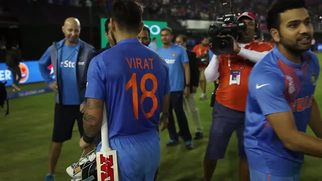 Virat Kohli's winning walk off pitch