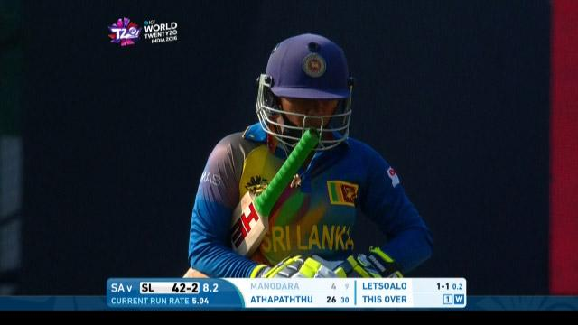 Dilani Manodara Wicket Fall SL V SA Video ICC Womens WT20 2016