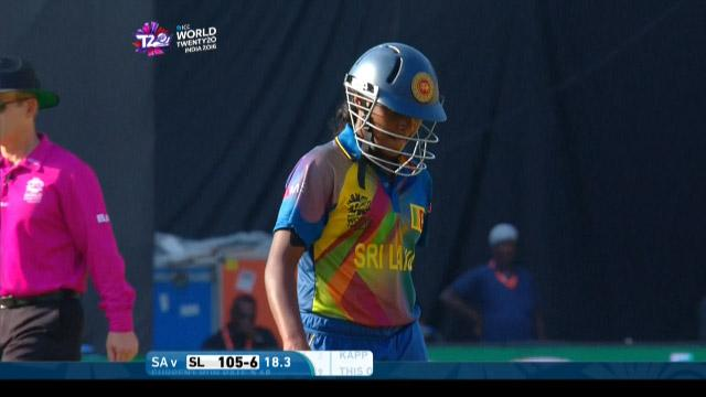 Ama Kanchana Wicket Fall SL V SA Video ICC Womens WT20 2016