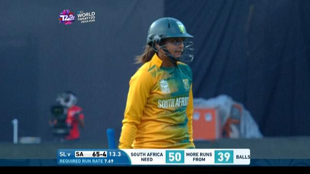 Dinesha Devnarain Wicket Fall SA V SL Video ICC Womens WT20 2016