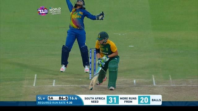 Lizelle Lee Wicket Fall SA V SL Video ICC Womens WT20 2016