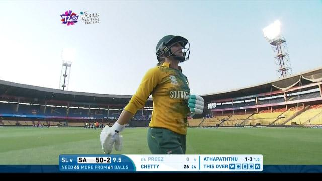 South Africa wicket Losses v Sri Lanka Video ICC Womens WT20 2016