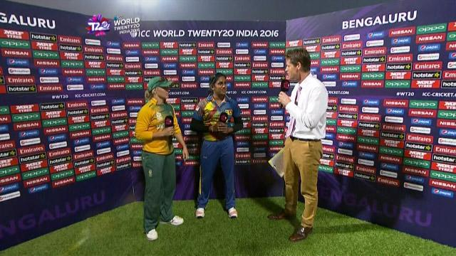 Match Presentation for SL V SA Match 20 ICC Womens WT20 2016