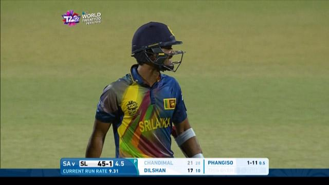 Dinesh Chandimal Wicket Fall SL V SA Video ICC WT20 2016