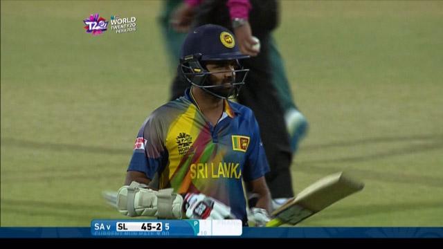 Lahiru Thirimanne Wicket Fall SL V SA Video ICC WT20 2016