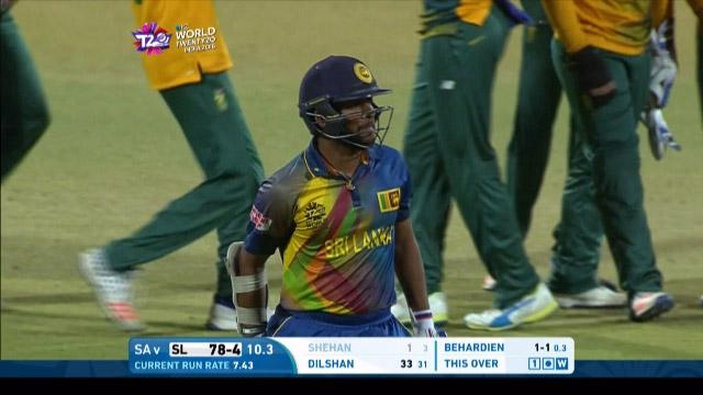 Shehan Jayasuriya Wicket Fall SL V SA Video ICC WT20 2016