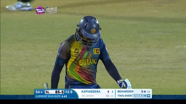 Tillakaratne Dilshan Wicket Fall SL V SA Video ICC WT20 2016