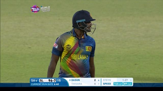 Thisara Perera Wicket Fall SL V SA Video ICC WT20 2016