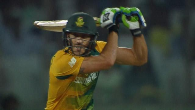 Faf du Plessis Innings for South Africa V Sri Lanka Video ICC WT20 2016