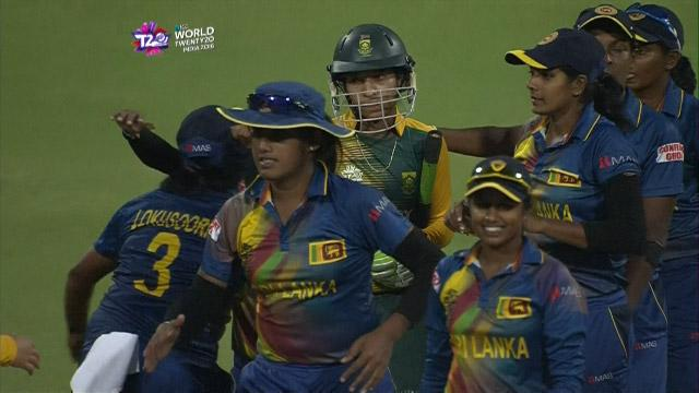 Sri Lanka Women winning moment and celebrations