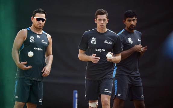 NZ warm-up with boundary catches