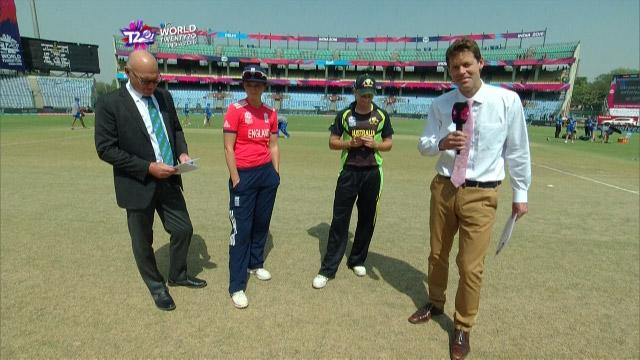 England wins Toss against Australia Match 21 ICC Womens WT20 2016