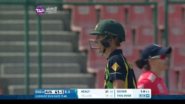 Elyse Villani Wicket Fall AUS V ENG Video ICC Womens WT20 2016