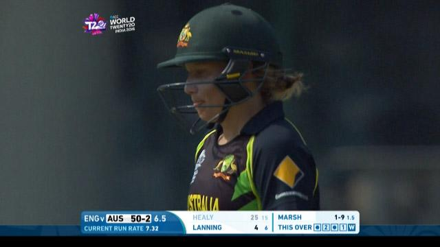 Alyssa Healy Wicket Fall AUS V ENG Video ICC Womens WT20 2016