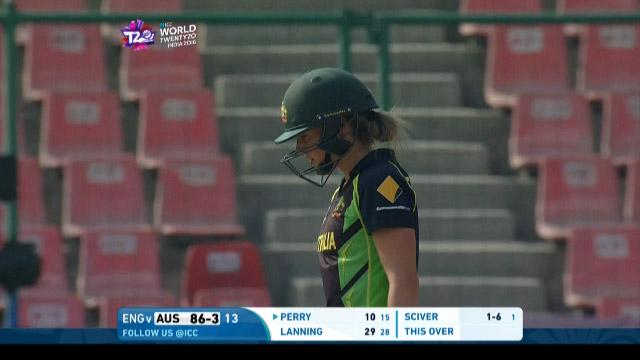 Ellyse Perry Wicket Fall AUS V ENG Video ICC Womens WT20 2016