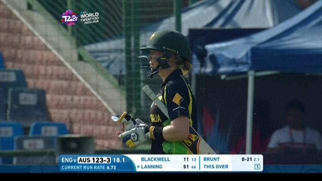 Alex Blackwell Wicket Fall AUS V ENG Video ICC Womens WT20 2016