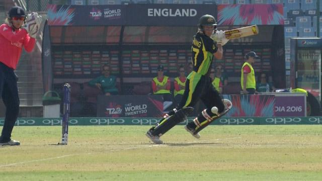 Meg Lanning Innings for Australia V England Video ICC Womens WT20 2016