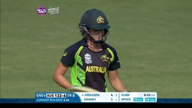 Jess Jonassen Wicket Fall AUS V ENG Video ICC Womens WT20 2016