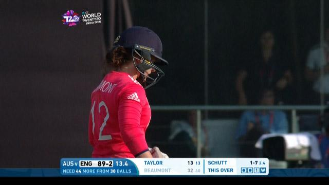 Tammy Beaumont Wicket Fall ENG V AUS Video ICC Womens WT20 2016