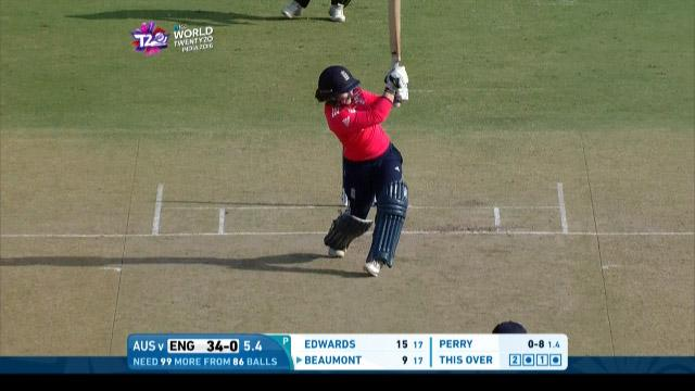 Tammy Beaumont Innings for England V Australia Video ICC Womens WT20 2016