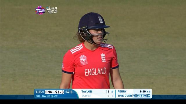 Natalie Sciver Wicket Fall ENG V AUS Video ICC Womens WT20 2016