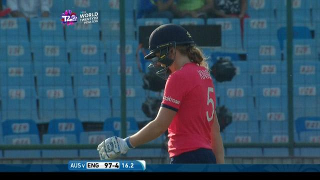 Heather Knight Wicket Fall ENG V AUS Video ICC Womens WT20 2016