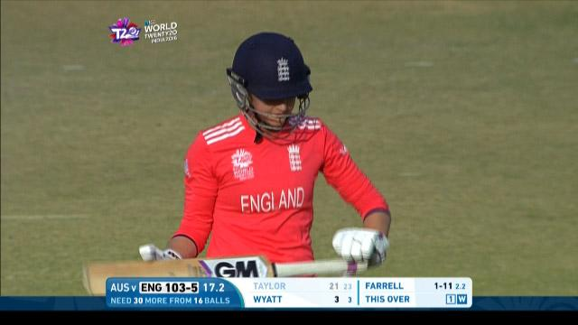 Sarah Taylor Wicket Fall ENG V AUS Video ICC Womens WT20 2016
