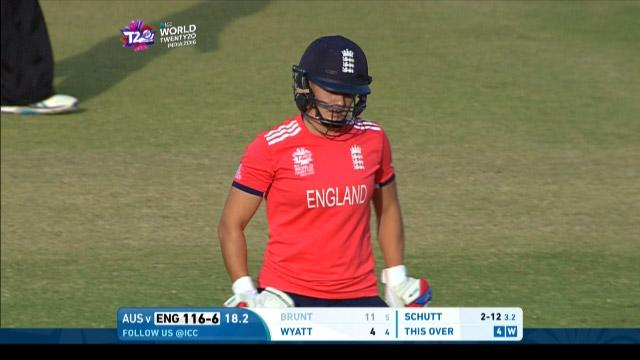 Katherine Brunt Wicket Fall ENG V AUS Video ICC Womens WT20 2016