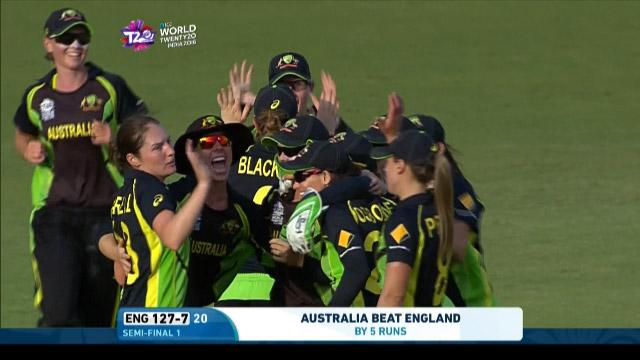 Australia winning moment & celebrations