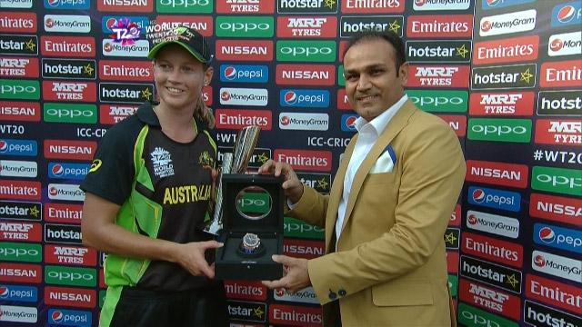 Player of the Match – Meg Lanning  – AUS v ENG