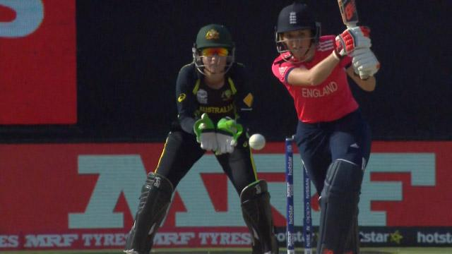 Charlotte Edwards Match Hero for England v AUS ICC Womens WT20 2016
