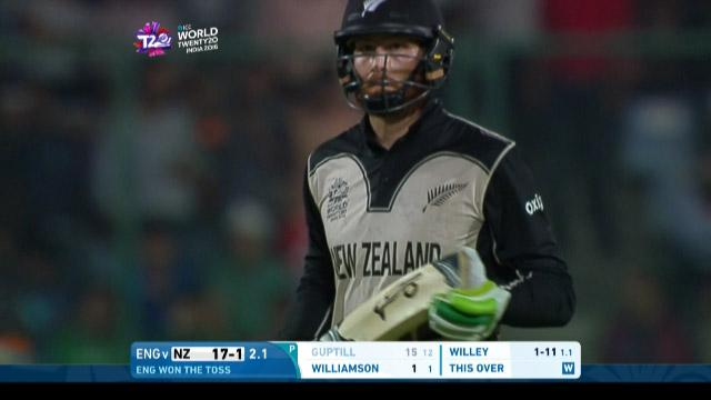 Martin Guptill Wicket Fall NZ V ENG Video ICC WT20 2016