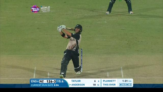 Anderson smashes Plunkett for massive 6!