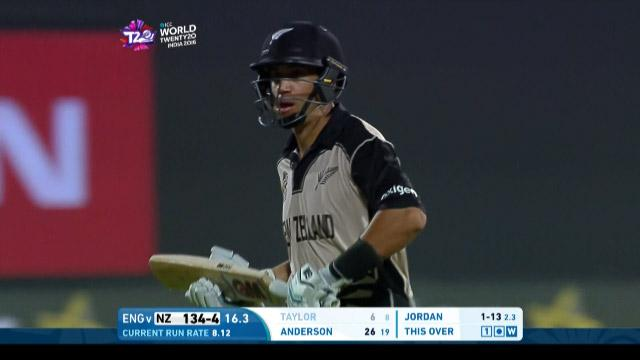 Ross Taylor Wicket Fall NZ V ENG Video ICC WT20 2016