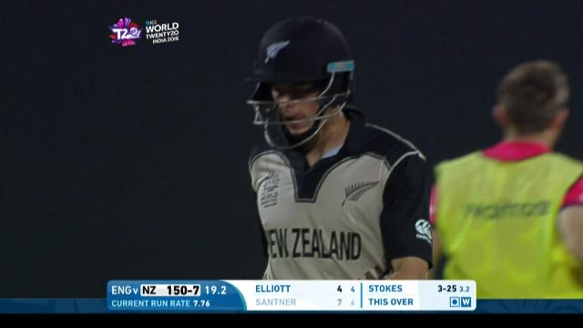 Mitchell Santner Wicket Fall NZ V ENG Video ICC WT20 2016