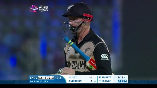 New Zealand wicket Losses v England Video ICC WT20 2016Z