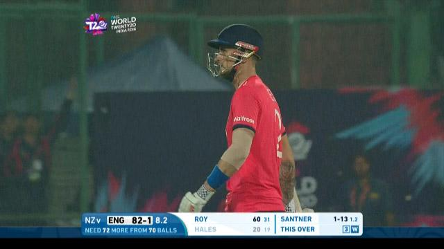 Alex Hales Wicket Fall ENG V NZ Video ICC WT20 2016