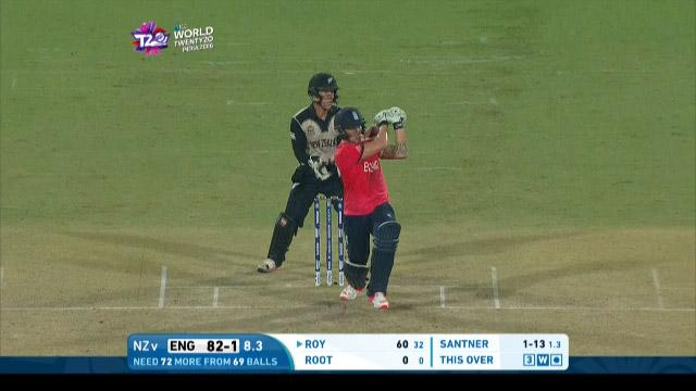 Jason Roy Innings for England V New Zealand Video ICC WT20 2016